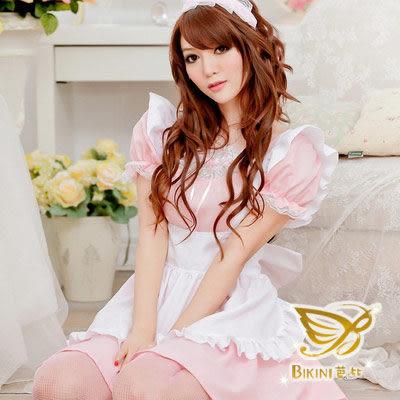角色扮演服 天使之戀‧華麗蕾絲連身女僕裝(天使粉)