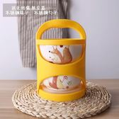 多層手提便攜陶瓷飯盒微波爐保鮮泡面碗便當盒密封筷勺   聖誕節歡樂購