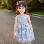 女童夏裝2018新款韓版連衣裙小女孩夏季蓬蓬紗公主裙兒童洋氣裙子