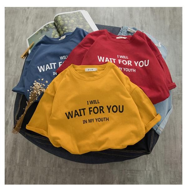 情侶T 現貨 情侶裝 純棉短T MIT台灣製【Y0882-20】短袖-I will wait for you 快速出貨