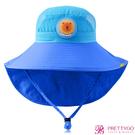 韓國Lemonkid 兒童超防曬漁夫遮陽帽(56cm)-藍獅子【美麗購】