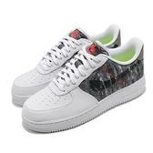 Nike 休閒鞋 Air Force 1 07 LV8 白 灰 男鞋 AF1 再生材質 運動鞋【ACS】 CV1698-100