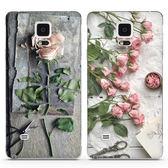 三星note4手機殼硅膠note2/3/5保護套軟個性創意防摔女款玫瑰碎花