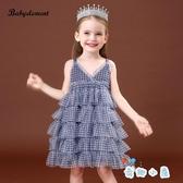 夏季吊帶公主裙子女童連身裙夏裝兒童蓬蓬紗裙【奇趣小屋】