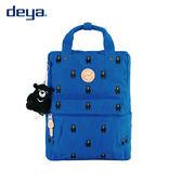 deya 熊後背包-刺繡帆布MIT台灣製造-藍色