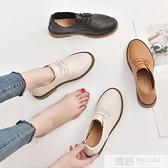 淺口小皮鞋女春季2020新款韓版百搭內增高單鞋黑色學生網紅女鞋子  母親節特惠