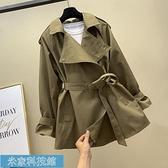 風衣 風衣女中長款2020年秋季新款韓版寬松系帶收腰氣質女神小個子外套 米家