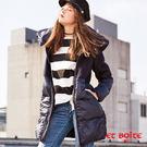 【秋冬新品】高質感羊毛拼接可拆領長版羽絨大衣 - BLUE WAY  ET BOiTE 箱子
