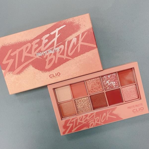 [韓國直送現貨] Clio 專業十色多功能眼影盤 0.6g*10 新色#4 street brick 街頭磚紅