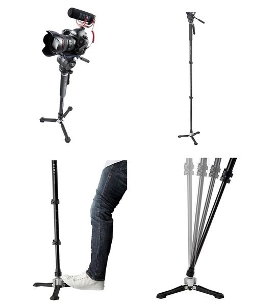 Libec HFMP KIT 專業級錄影單腳架套組〔可單腳獨立站立〕【公司貨 保固一年】TH-HFMP