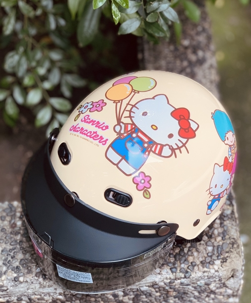 HELLO KITTY安全帽,兒童安全帽,822,823,KT#01/黃,附抗UV-PC安全鏡片