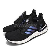 【六折特賣】adidas 慢跑鞋 UltraBoost 20 黑 藍 男鞋 Primeknit 編織鞋面 Boost 【ACS】 EG0692