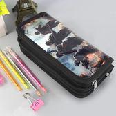 多功能雙層筆袋男 大容量創意簡約鉛筆盒筆袋學生男 小學生文具盒 全館免運