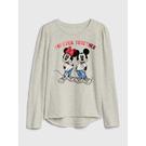 Gap女童GapxDisney迪士尼系列印花套頭圓領T恤520393-石楠灰色