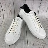 BRAND楓月 GIVENCHY 紀梵希 黑色尾 皮革 經典小白鞋 休閒鞋 板鞋 男鞋#39