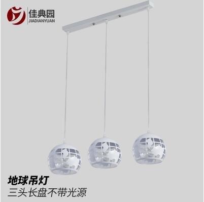特惠 北歐式餐廳吊燈現代簡約三頭創意餐桌燈時尚大氣飯廳LED客廳燈具(不送光源)