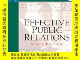二手書博民逛書店Effective罕見Public RelationsY256260 Scott M. Cutlip Pear