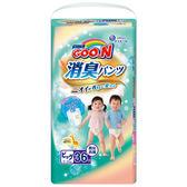 GOO.N 大王-日本境內版 消臭香香褲XL36片/包 大樹