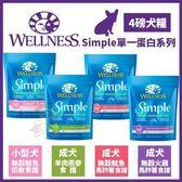 *King Wang*週年慶-Wellness《Simple單一蛋白系列-小型犬鮭魚|鮭魚|火雞|羊肉 可選》4磅/包