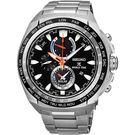 【5年保固卡】SEIKO 精工 PROSPEX 海世界時間時尚手錶-黑/44.6mm V195-0AB0D(SSC487P1)