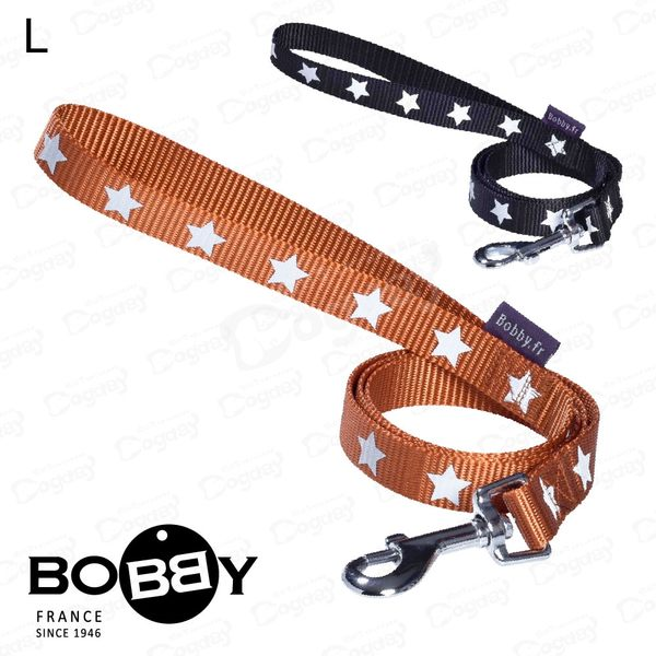 法國《BOBBY》午夜拉繩L號 反光安全時尚新設計 適合大型犬 拉繩 牽繩