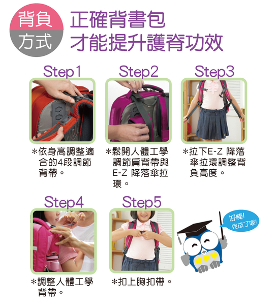 IMPACT怡寶 調整型護脊書包-樂學系列-紫 IM0A221PL