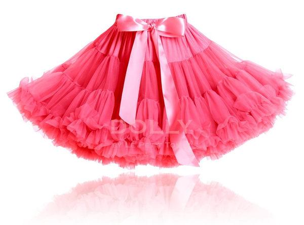【荷蘭 DOLLY】公主雪紡澎裙 - 西瓜粉 PET26 (1-3歲 & 3-6歲)