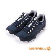 【MERRELL 促銷8折】MOAB FST GORE-TEX防水戶外多功能登山健行鞋 深藍/灰 ML598189 男鞋
