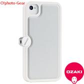 【A Shop】  Ozaki O!photo Gear 攝影玩家專用iPhone4/4s保護殼-白灰 不含吊繩
