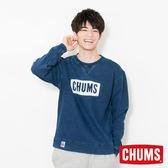 CHUMS 日本 男 LOGO 圓領套頭衫 Indigo丹寧藍 CH001096N030