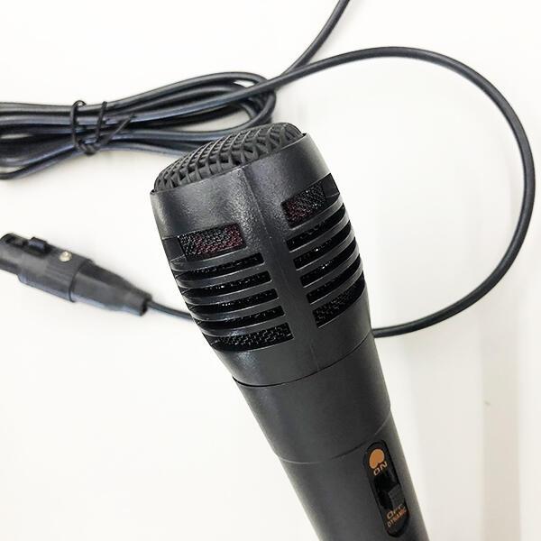 【妃凡】《卡拉OK麥克風+轉3.5mm轉接線 2米》 有線麥克風 MIC 唱歌 KTV麥克風 舞台 256