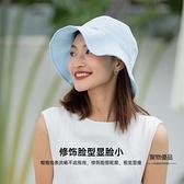 防曬帽女防紫外線夏季出游雙面戴花瓣漁夫帽可折疊【聚物優品】
