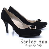 ★2017秋冬★Keeley Ann浪漫滿分~雅緻名媛環形圓飾OL高跟鞋(黑色)