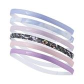 Nike 髮帶 Elastic Hairbands 紫 粉 女款 頭帶 六件組 花卉圖案 運動休閒 【ACS】 N000254595-7OS