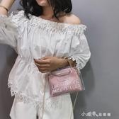 上新手提包小包包韓版透明斜背包果凍子母單肩包 小確幸