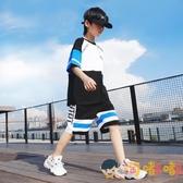 男童夏裝運動套裝中大童短袖兒童帥氣潮【淘嘟嘟】