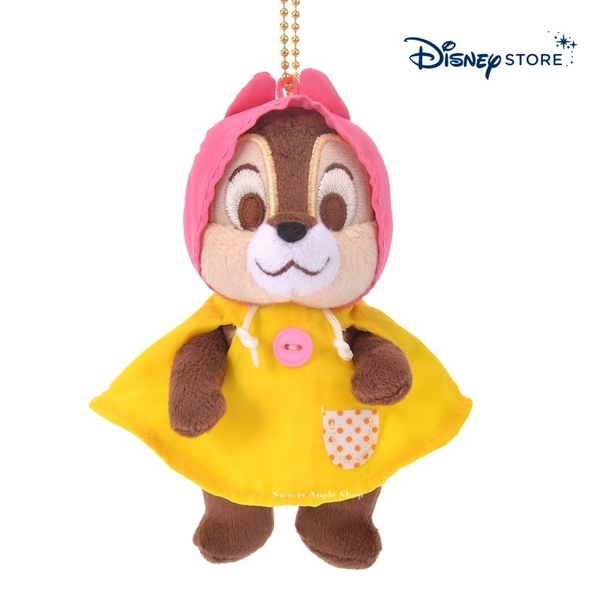 【SAS】日本限定 迪士尼商店 Disney Store 奇奇蒂蒂『奇奇』 雨衣版 珠鍊吊飾玩偶娃娃