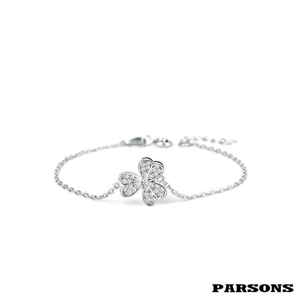 【PARSONS】守望系列 幸福, 於你身側 925純銀幸運草手鍊