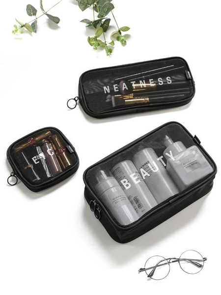 化妆包—旅行化妝包小號便攜韓國簡約洗漱包大容量化妝品收納包隨身化妝袋 依夏嚴選