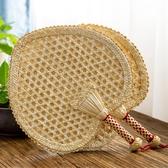 手工編織扇子老式大蒲扇夏季驅蚊芭蕉麥秸草編兒童隨身古典中國風 後街五號