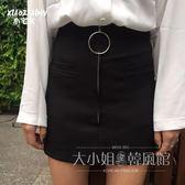 半身裙夏高腰包臀裙子女A字裙短裙學生-大小姐風韓館