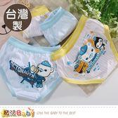 男童內褲(四件一組) 台灣製海底小縱隊正版純棉三角內褲 魔法Baby