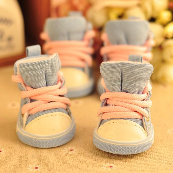 寵物鞋 狗狗鞋子泰迪鞋子一套四只秋冬比熊板鞋寵物狗鞋 mc4398『東京衣社』