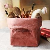化妝刷收納桶筆筒收納袋牛皮紙撕不破可水洗防水【聚寶屋】