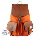 橘色日式帆布束口後背包   AMINAH~【am-0249】