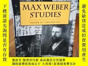 二手書博民逛書店MAXWEBER罕見STUDIES(VOLUME 19.1·JA