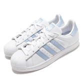 【海外限定】 adidas 休閒鞋 Superstar 白 藍 女鞋 運動鞋 【PUMP306】 EF9247