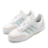 adidas 休閒鞋 Courtmaster 白 綠 女鞋 基本款 麂皮 皮革 運動鞋 【ACS】 FW2896