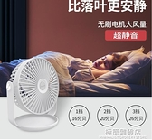 超靜音臺式辦公室桌面USB小風扇大風力學生宿舍床上便攜式迷你車載家用廚房 極簡雜貨