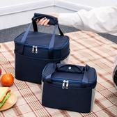 便當包飯盒袋午餐便當包保溫袋包帆布手拎媽咪包帶飯的手提袋鋁箔加厚